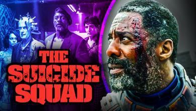 Idris Elba as Bloodsport, The Suicide Squad logo
