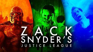 Darkseid, Joker, Superman, Justice League logo