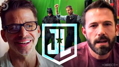 Zack Snyder, Ben Affleck, Justice League Set Photo