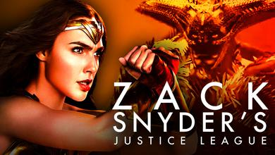 Gal Gadot as Wonder Woman, Zack Snyder's Justice League logo