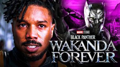 Michael B. Jordan Black Panther: Wakanda Forever logo