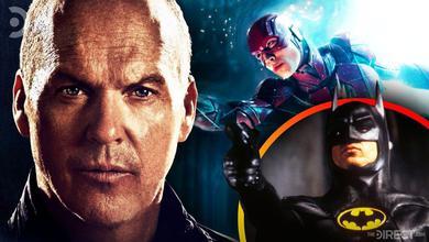 Michael Keaton, Ezra Miller as The Flash, Michael Keaton as Batman