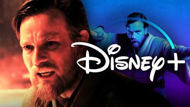 Obi-Wan Kenobi Close-up, Obi-Wan, Disney+ logo