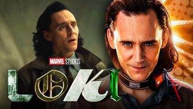 Tom Hiddleston Loki Disney Plus Logo