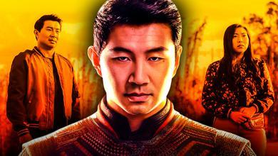 Simu Liu as Shang-Chi, Awkwafina as Katy