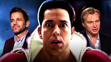 Zachary Levi as Shazam, Zack Snyder, Christopher Nolan