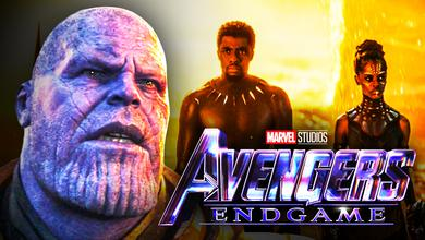 Thanos, Black Panther, Shuri, Avengers: Endgame