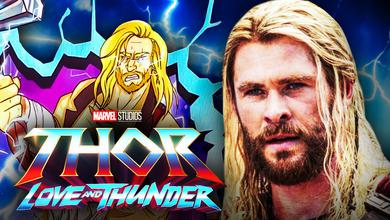 Thor love and thunder logo Chris Hemsworth