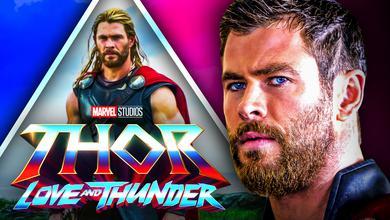 Chris Hemsworth Thor Love and Thunder logo