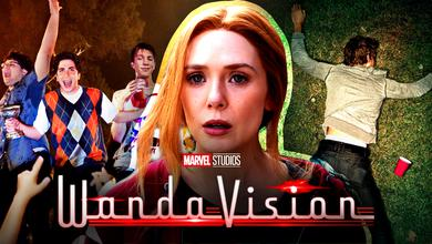 Project X Promo image, Elizabeth Olsen as Wanda Maximoff, Project X Poster, WandaVision logo