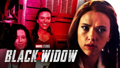 Black Widow BTS picture, Scarlett Johansson as Natasha Romanoff