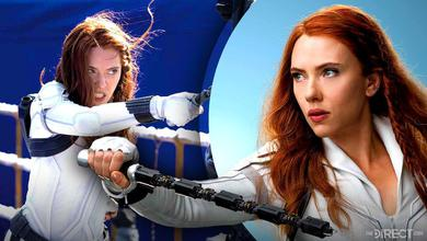 Scarlett Johansson Action Shots as Black Widow
