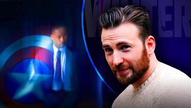 Sam Wilson with Captain America shield, Chris Evans