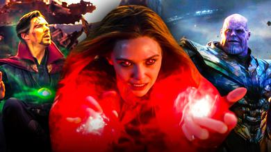 Scarlet Witch, Doctor Strange, Thanos