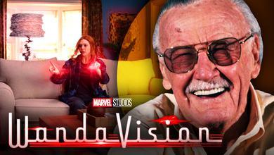 Elizabeth Olsen as Wanda, WandaVision logo, Stan Lee