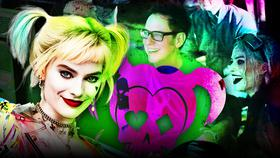 Margot Robbie as Harley Quinn, James Gunn}