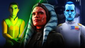 Rosario Dawson's Ahsoka with Thrawn and Ezra}