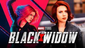Black Widow artwork by Jen Bartel, Black Widow logo, Scarlett Johansson as Black Widow}