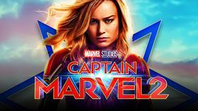 Brie Larson as Captain Marvel, Captain Marvel 2 logo}
