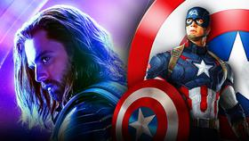 Chris Evans as Captain America, Sebastian Stan as Sam Wilson}