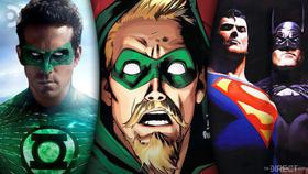 Ryan Reynolds Green Lantern, Green Arrow Comic, Superman and Batman from Justice League: Mortals}
