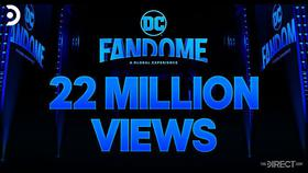 DC FanDome logo with 22 million views under it}