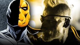 Comic Deathstroke and Joe Manganiello as Slade Wilson}