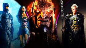 Batman and Wonder Woman with Darkseid and Granny Goodness}