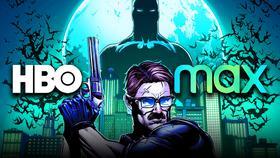 HBO Max logo, Jim Gordon, Batman}