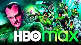 Green Lantern Corps, Sinestro, HBO Max logo}
