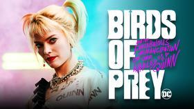 Margot Robbie's Harley with Birds of Prey logo}