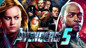 Captain Marvel, Illuminati Team, Falcon}