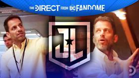 Zack Snyder from BTS, Justice League Logo, Zack Snyder with flaming torch}