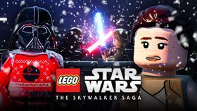 LEGO Star Wars logo, Rey, Darth Vader}