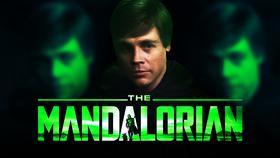 Luke Skywalker Mark Hamill The Mandalorian logo}