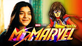 Ms. Marvel Logo, Kamala Khan, Iman Vellani}
