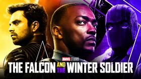 Anthony Mackie as Sam Wilson, Sebastian Stan as Bucky, Daniel Bruhl as Baron Zemo}