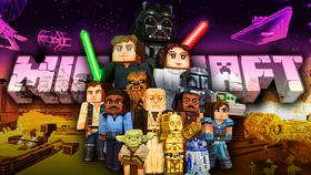 Minecraft logo, Star Wars Minecraft characters}