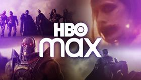 Joker, Darkseid, Batman and the Justice League with HBO Max Logo}