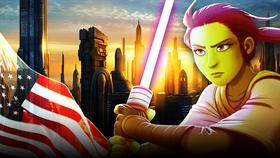 Coruscant, American Flag, The High Republic Jedi}