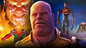 Josh Brolin as Thanos, Celestials, Al'ars}