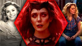 WandaVision Scarlet Witch Elizabeth Olsen Desktop Background}