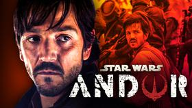 Diego Luna as Cassian Andor, Andor logo}