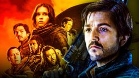 Diego Luna as Cassian Andor, Rogue One Star Wars poster}