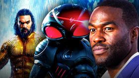 Yahya Abdul-Mateen II, Black Manta, Jason Momoa as Aquaman}
