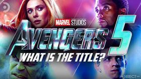Avengers 5 logo, Scarlet Witch, Black Panther, Hulk, Spider-Man}