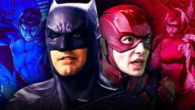 Ben Affleck's Batman and Ezra Miller's Flash in Justice League}