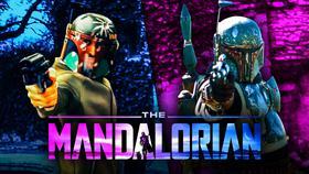 Boba Fett, The Mandalorian logo, Boba Fett}