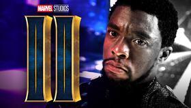 Black Panther 2 logo, Chadwick Boseman as T'Challa}