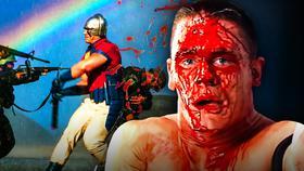 John Cena bloody, Peacemaker suit}